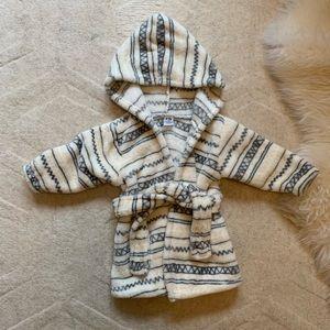 Boho print baby bathrobe 0-9m